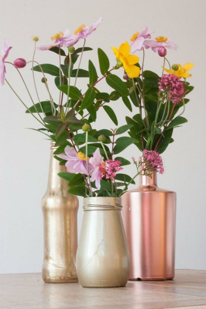kreative wohnideen dekoideen einmachgläser bemalen vasen | diy, Wohnideen design