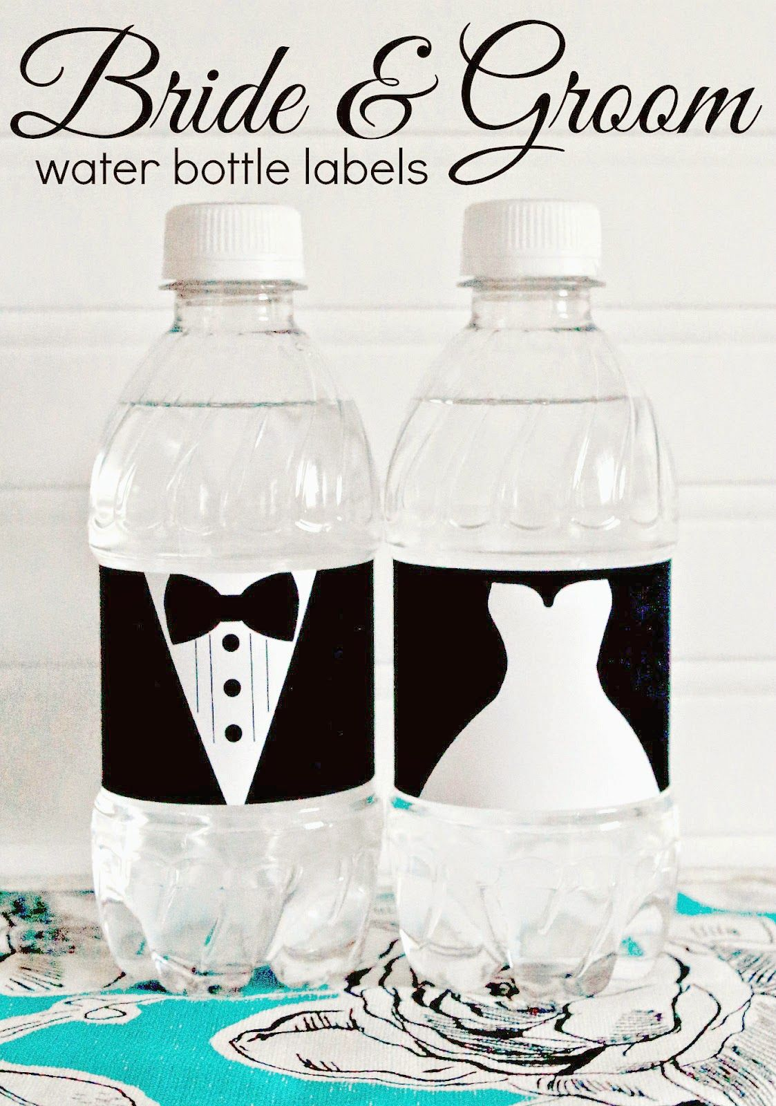 Free Printable Bride And Groom Water Bottle Labels Great For