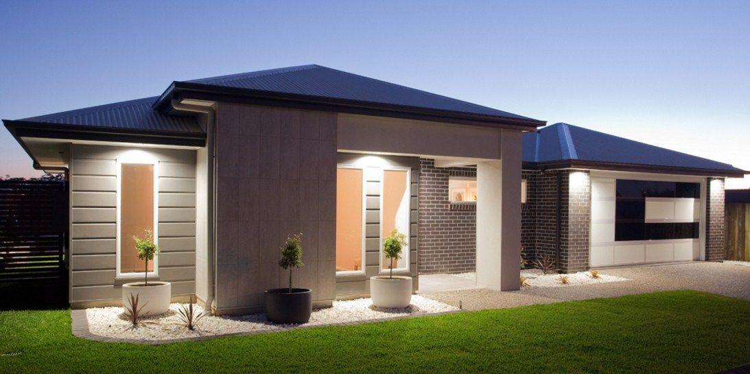 Fachadas de casas de una sola planta colores para for Modelos de casas de una sola planta