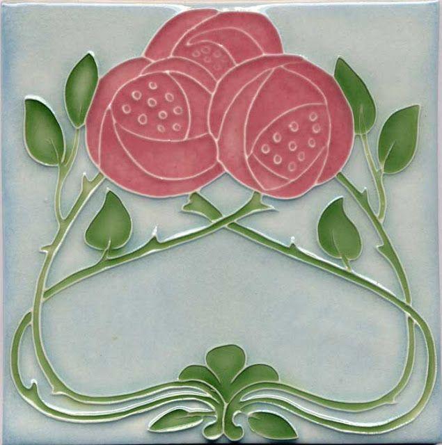 Azulejos decorative tile pinterest jugendstil jugendstil muster und art deco - Art deco fliesen ...