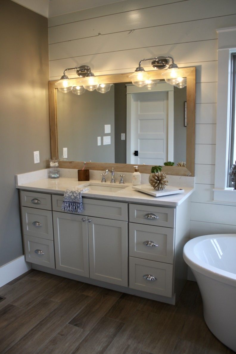 Master Bath Designed By Tina Holland In HomeCrest Sedona Maple Sanddollar  Paint #kitchensales #knoxvilletn