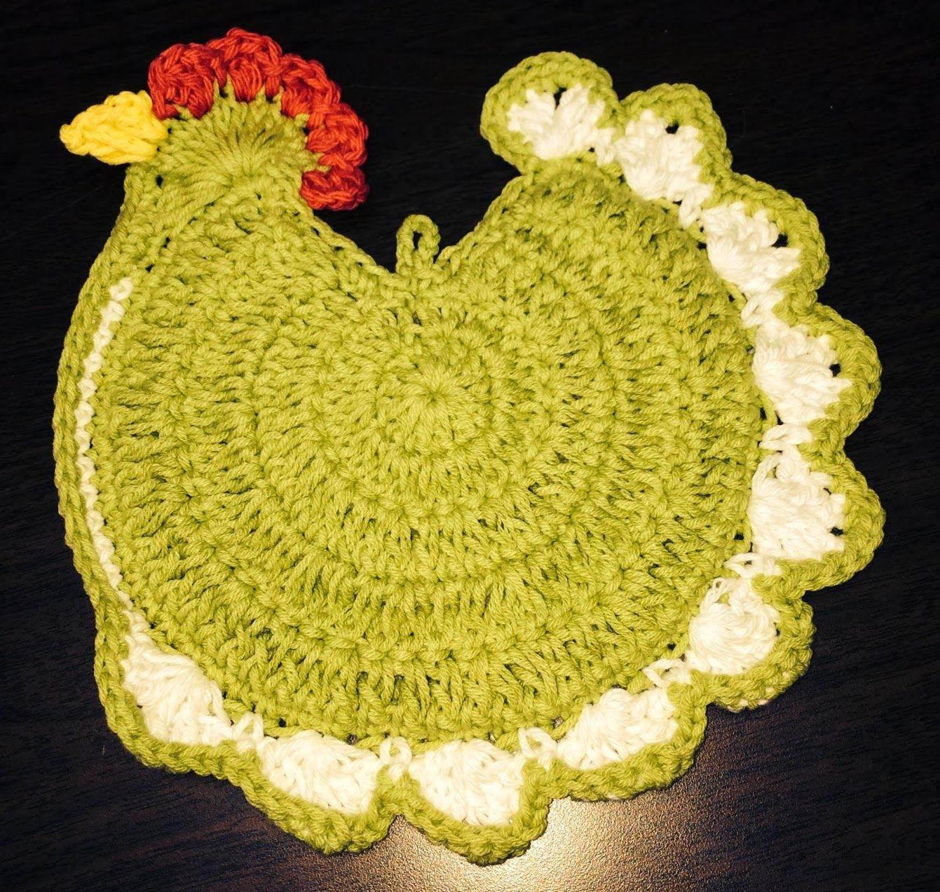 Mission Chicken Hot Pad Pattern By Angi Swartzendruber