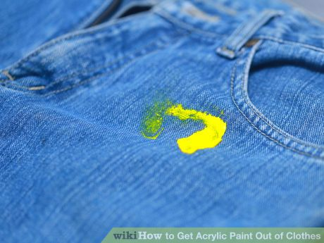 Get Acrylic Paint Out Of Clothes Remove Acrylic Paint Stain On