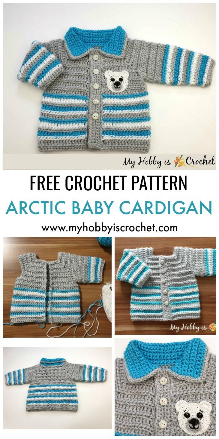 Photo of Arctic Baby Cardigan – Free Crochet Pattern