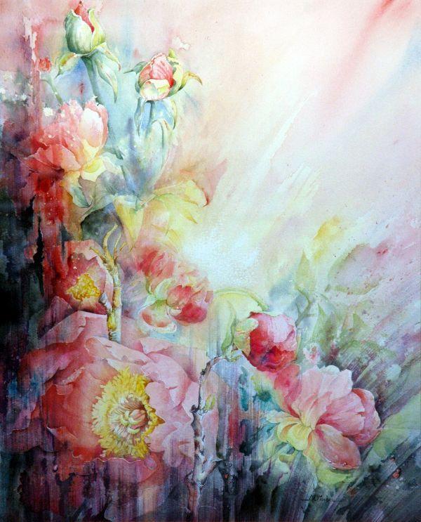 Moudru Marie Claire Aquarelliste Peintures Florales Aquarelle