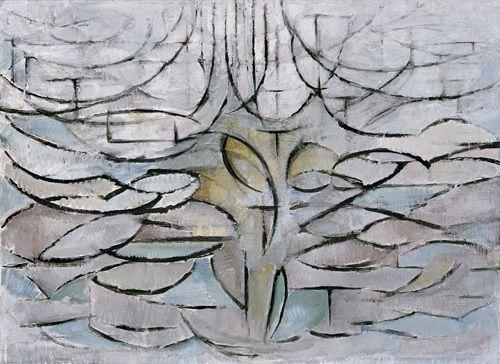 ARTCANVAS Blossoming Apple Tree 1912 Canvas Art Print by Piet Mondrian