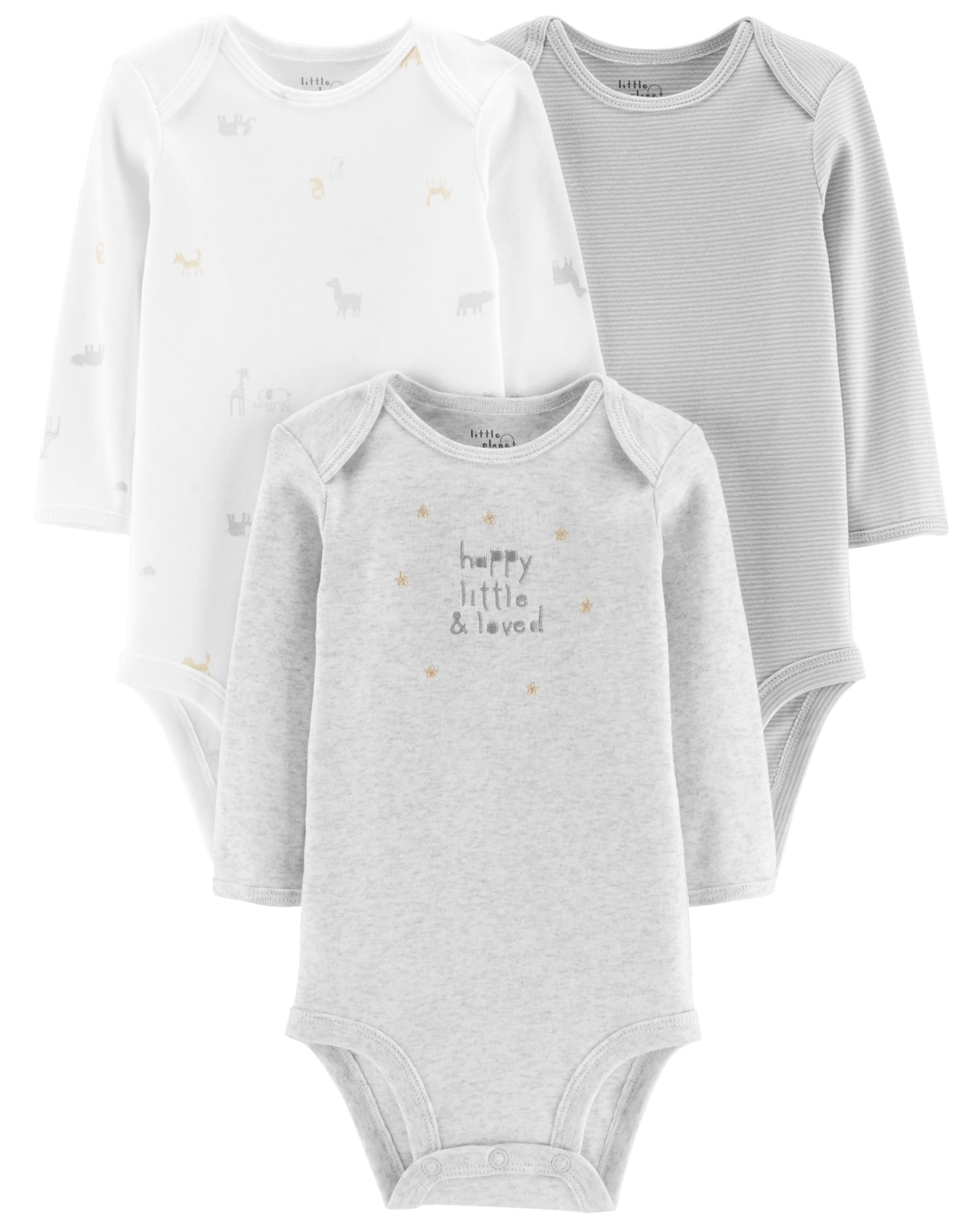 6f6e43c5c8ef Baby Boy - 3-Pack Certified Organic Bodysuits -  26.00