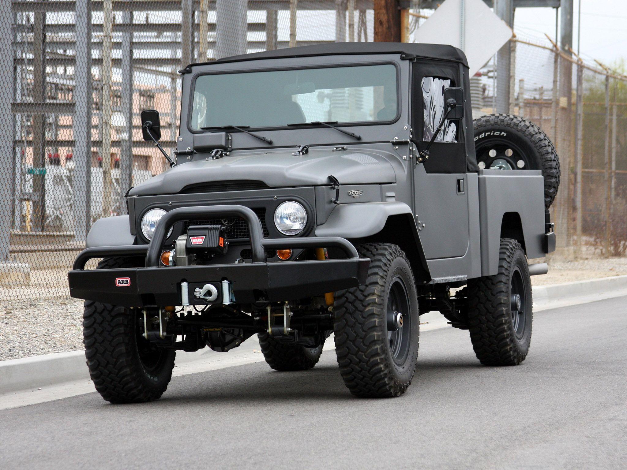 toyota fj pickup land cruiser pickup fj45 based on. Black Bedroom Furniture Sets. Home Design Ideas