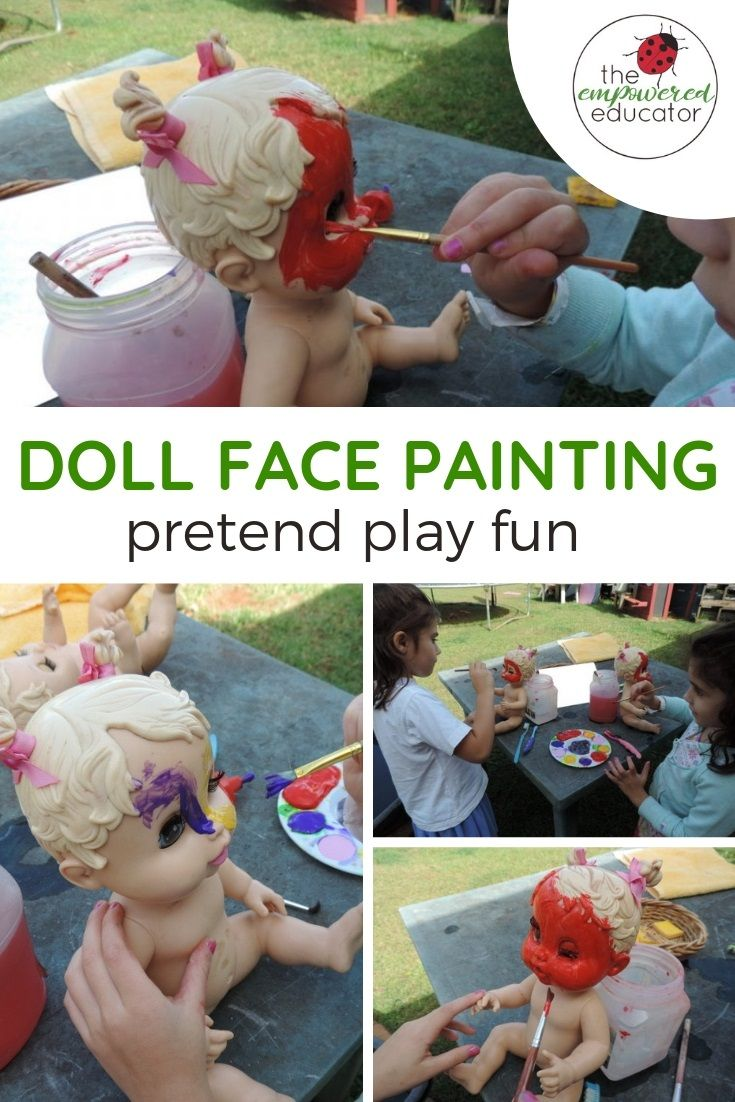 Inviting Imagination into Outdoor Play with Facepainting #dollfacepainting