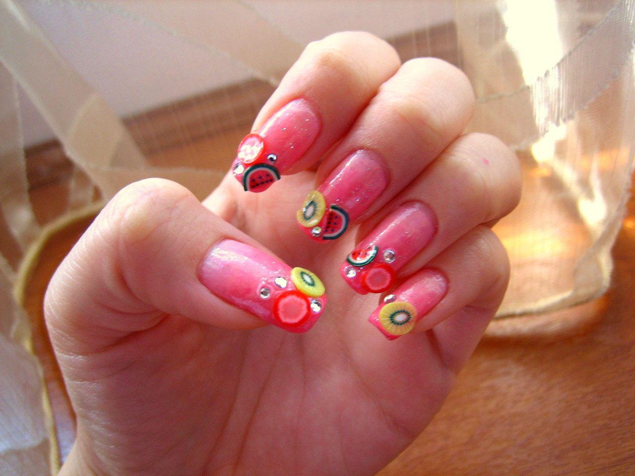 Fruits on Nails | Nail Designs | Pinterest
