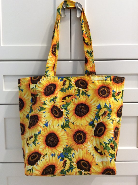 Sunflower Tote Bag Tote Bag Reusable Grocery Bag Recycle Market Bag Sunflower Purse Shopping Tote Purse Reusable Grocery Bags Tote Bag Grocery Bag