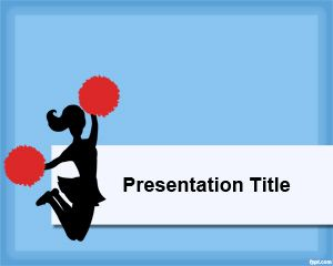 Cheerleader powerpoint template is a free powerpoint template with cheerleader powerpoint template is a free powerpoint template with blue background and a cheerleader image on toneelgroepblik Images