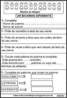 Avaliacao De Portugues Para Series Iniciais De Alfabetizacao