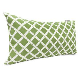Majestic Home Goods Sage Bamboo And Geometric Rectangular Lumbar Pillow Outdoor Decorative