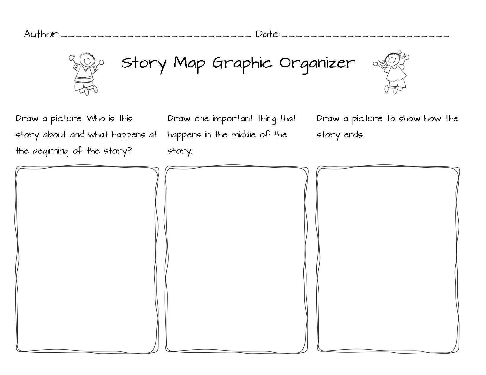 Beginning Middle End Graphic Organizer Story Map Author