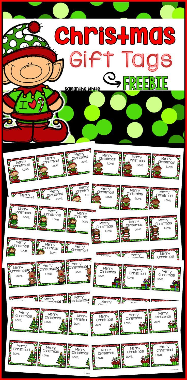 These Christmas gift tags are perfect for your gifts or treat bags ...