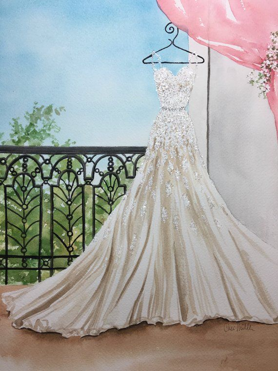 Fashion Illustration Artfts For Herding Gownide