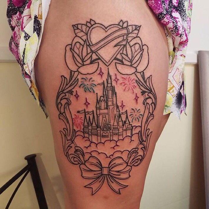 disney castle tattoo disney tattoos pinterest t towierungen tattoo ideen und zeichnen. Black Bedroom Furniture Sets. Home Design Ideas