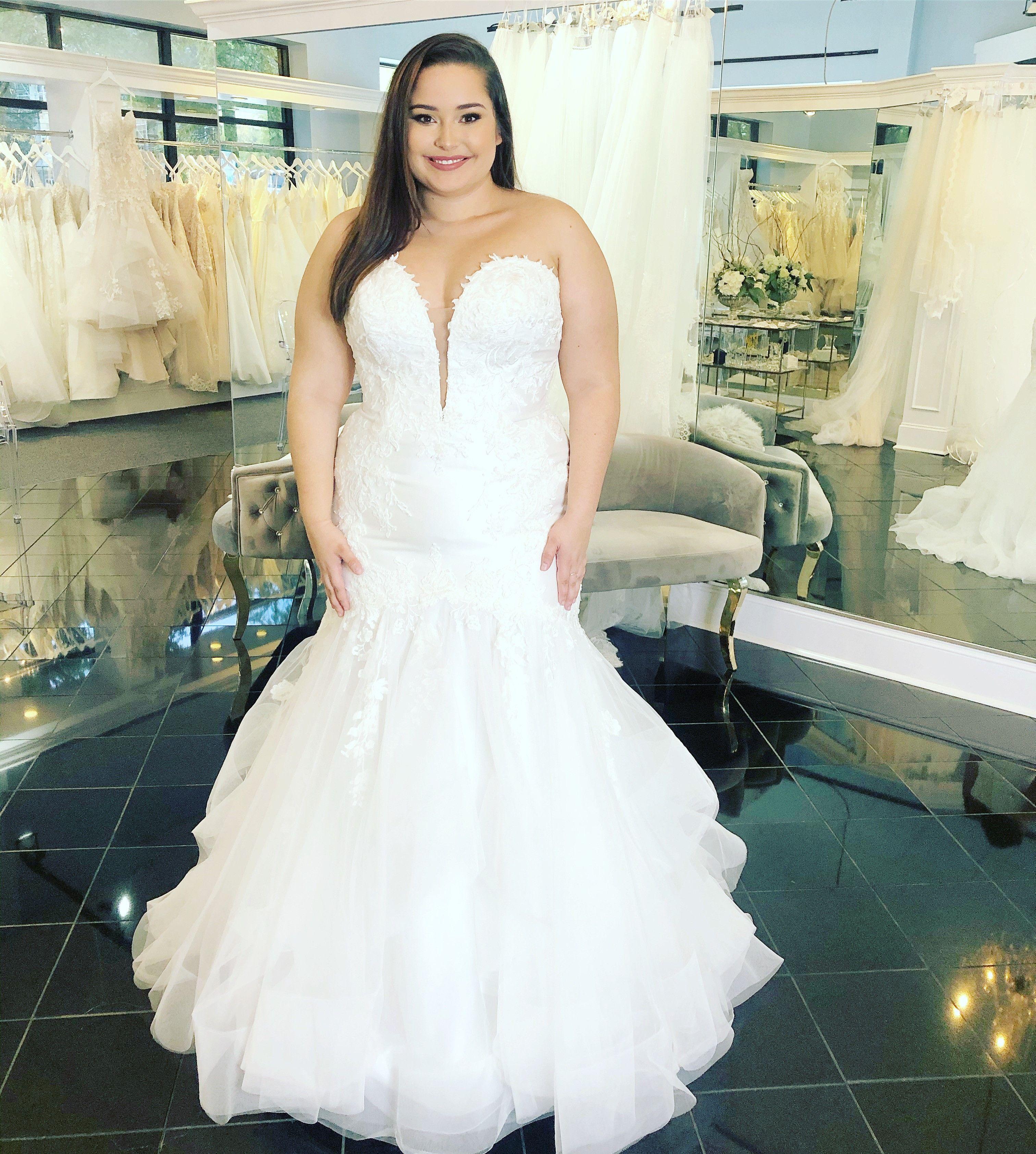 Unique Plus Size Mermaid Wedding Dress! in 2020 Wedding
