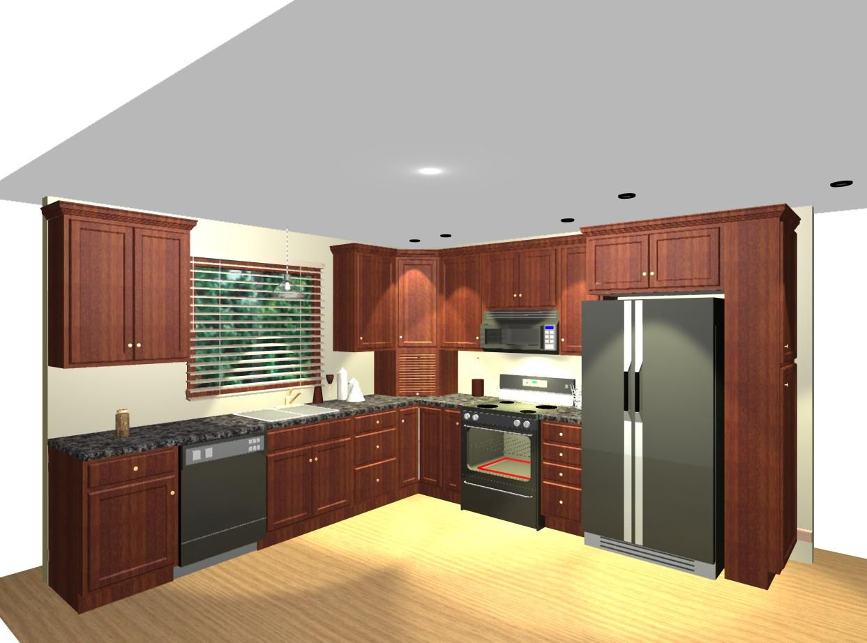 Advantages of l shaped kitchen ideas http www for Kitchen appliance layout ideas