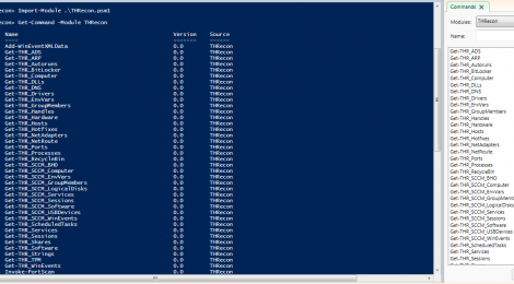 THRecon is a #Powershell module for Threat-Hunting and