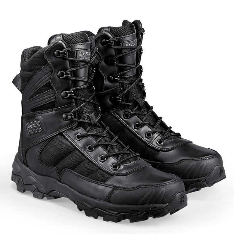 3ca3bf96908 Tactical  boots For Men Lightweight Wear Resistant Military Footwear All  Purpose Combat Boots Quick Zip Slip On Feature - 2 Colors