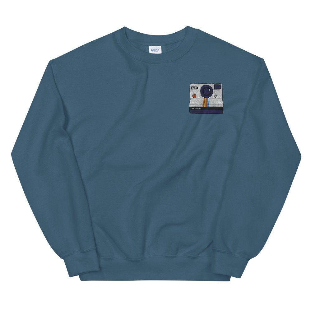 Polaroid Embroidered Sweatshirt In 2020 Long Sleeve Tshirt Men Sweatshirts Embroidered Sweatshirts [ 1000 x 1000 Pixel ]