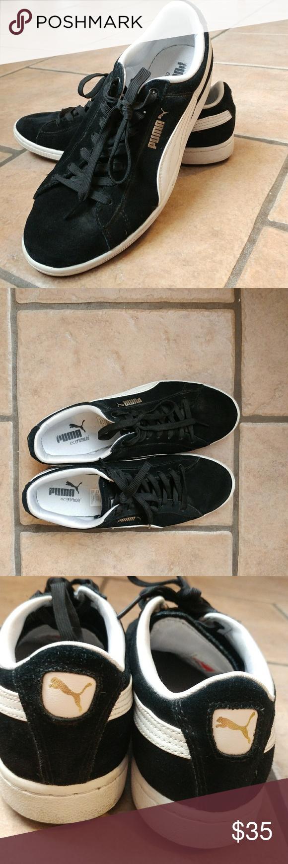 PUMA Eco Ortholite Classic Black & White Shoe Pre Owned PUMA