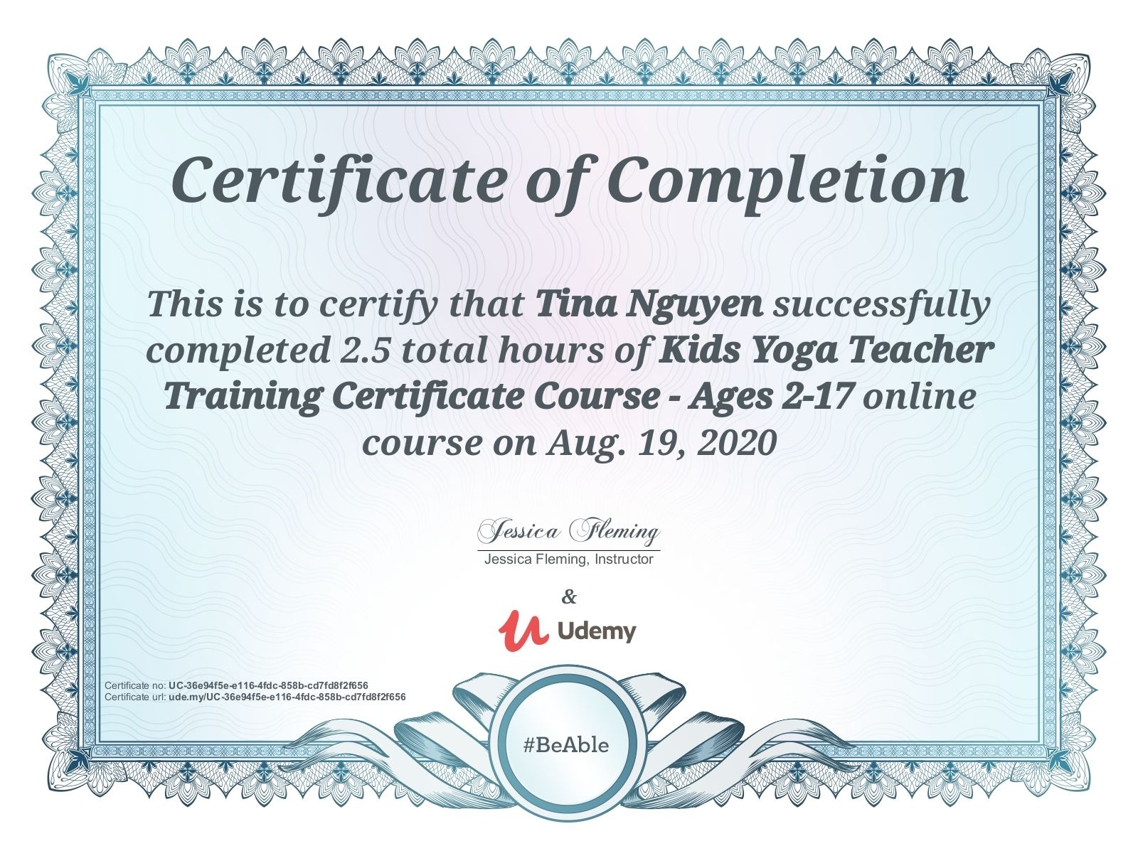 udemy certificate completion course certification cost