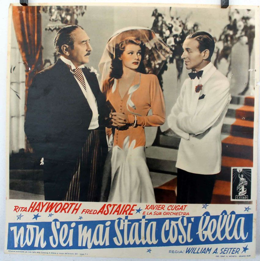 You were Never Lovelier fotobusta poster starring Fred Astaire and Rita Hayworth