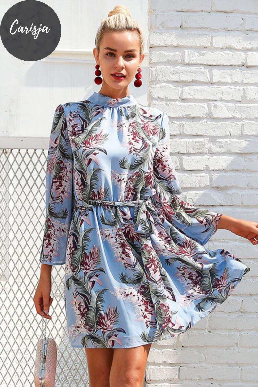 elegante kleider, florales kleid hochzeitsgast, boho kleid