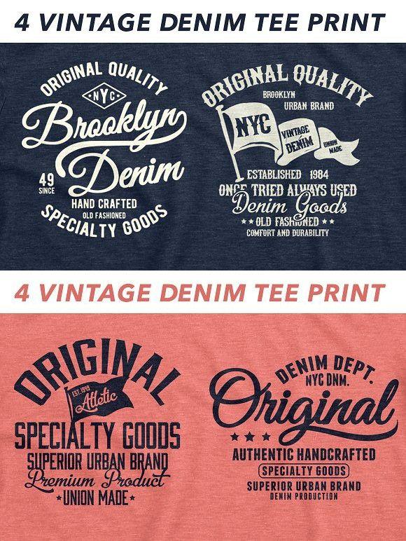 Vector Denim Tee Print Denim Tees Print Tees