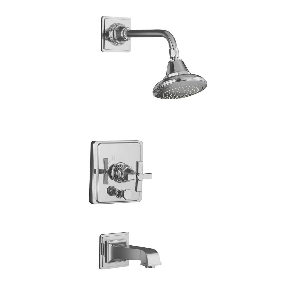 Kohler Pinstripe 1 Handle Tub And Shower Faucet Trim Only In