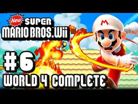 New Super Mario Bros Wii Part 6 World 4 Complete Super Mario