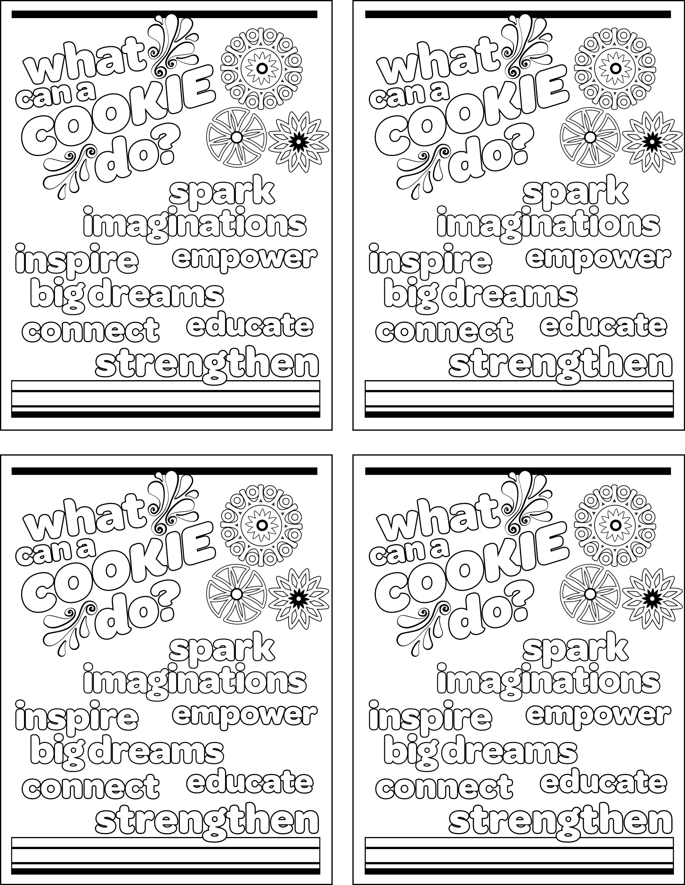 girl scout brownie clip art coloring sheets  cp2 4up 12