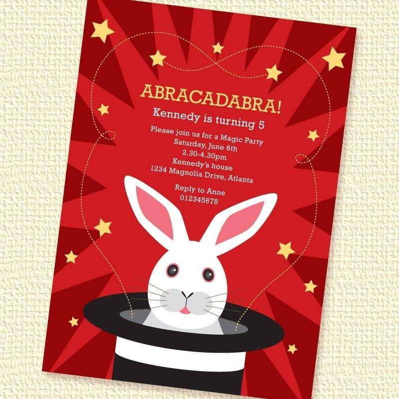 Magic Party Invitation – DIY Printable Personalized – Kids ...