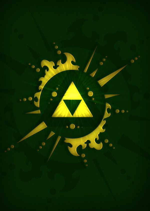 The Legend Of Zelda Triforce Displate Artwork By Artist Ki Grafica