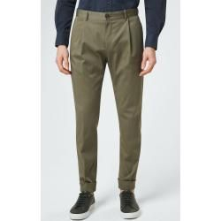 Photo of Pleated trousers Dalio with flap in olive windsorwindsor