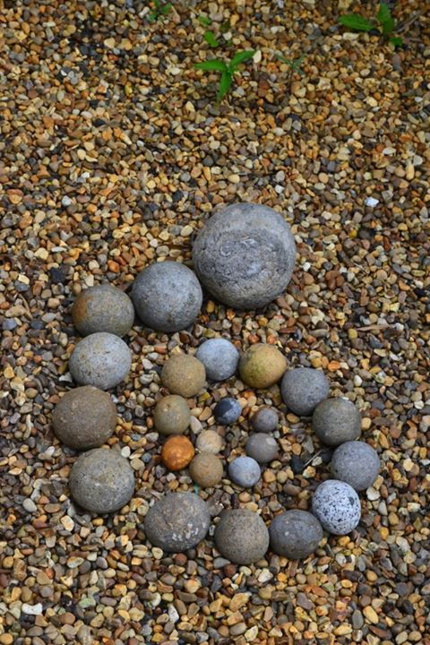 Stone Spiral On Gravel From Kids In The Garden Life Rocks