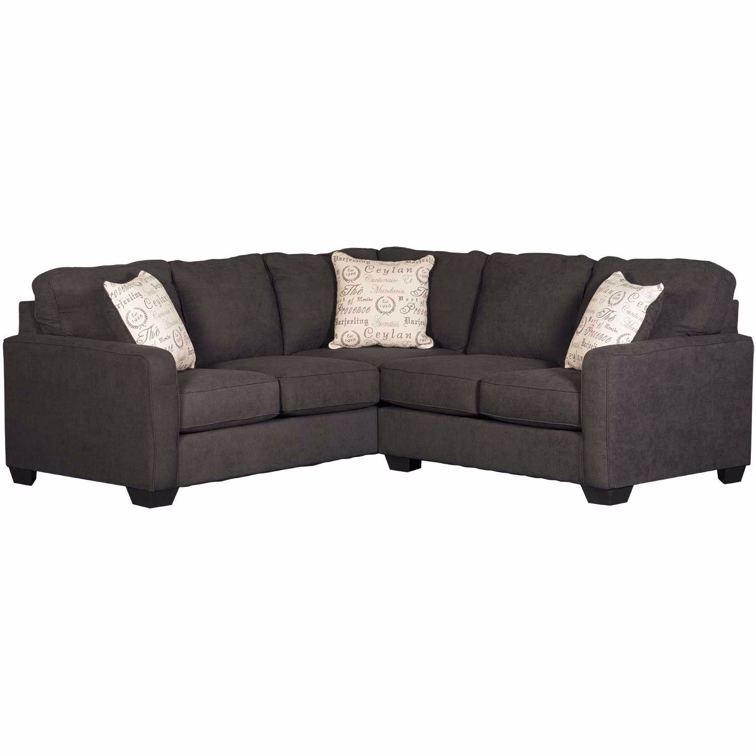 Best Pantomine 2 Piece Sectional With Raf Cuddler Charcoal 400 x 300