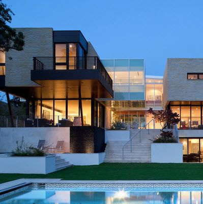 Alto lago privada residencial fachadas de casas modernas for Arquitectura y diseno de casas modernas