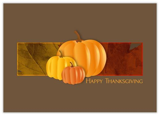 Three Pumpkins - Thanksgiving Cards from CardsDirect