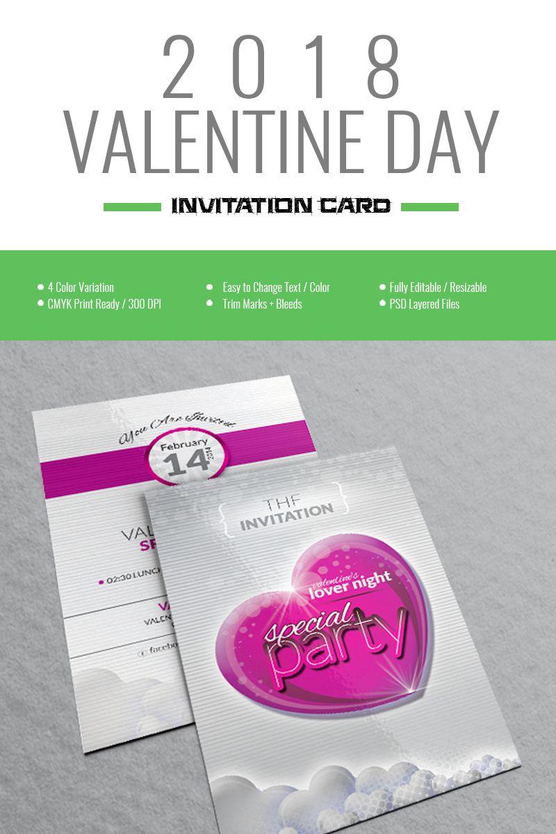 Valentine Day Special Party Invitation Card Design Corporate