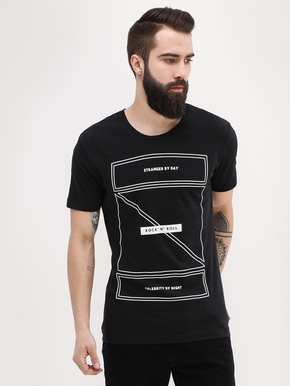 d3cd70616c Buy Rock  N  Roll Printed T-Shirt For Men - Men s Black T-shirts Online in  India
