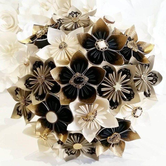 Excellent Image of Lux Wedding Decor Paper flowers