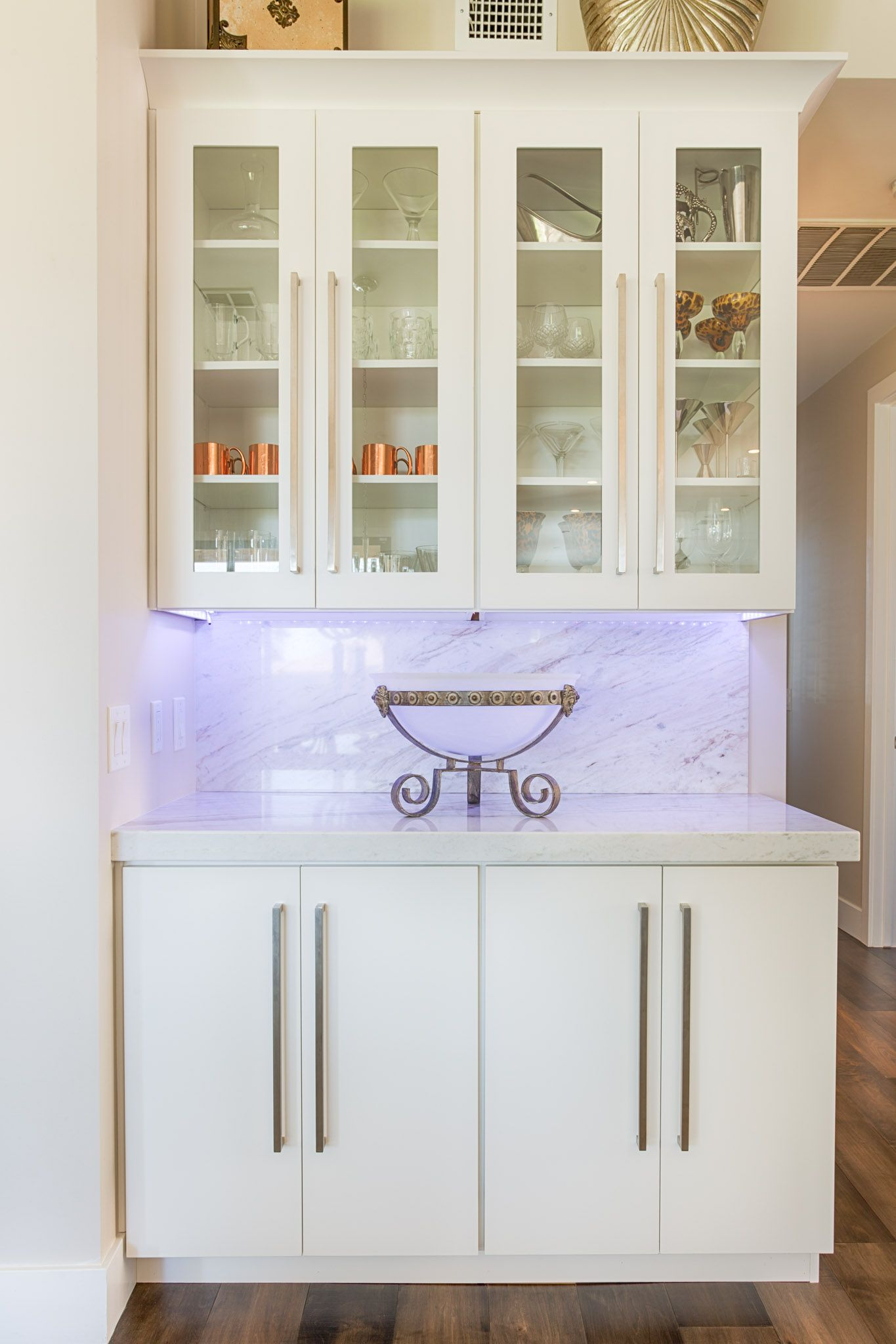 Metro doors in Frost paint make a beautiful display case and storage ...