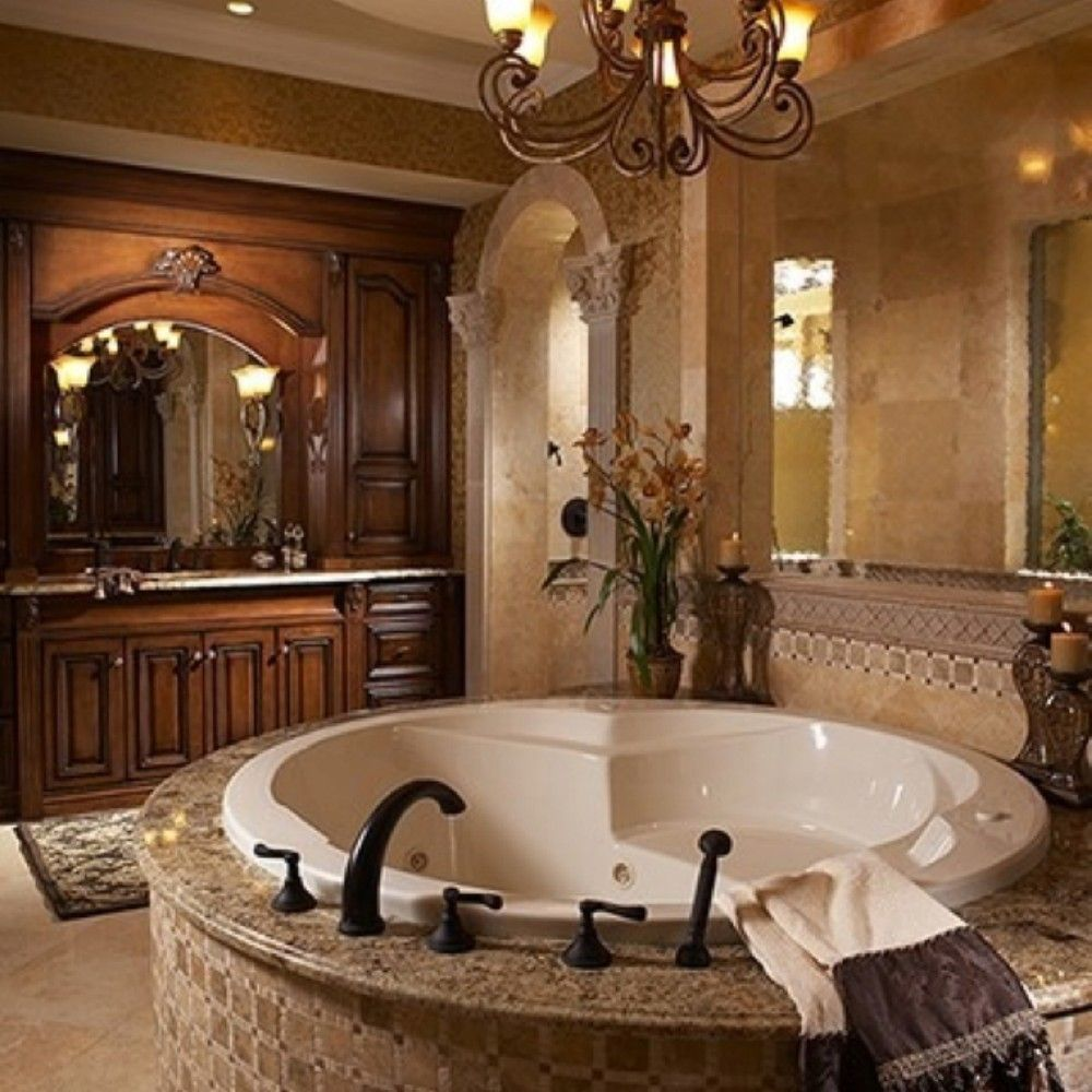 Awesome 82 Luxurious Tuscan Bathroom Decor Ideas Https Amusing Luxury Bathroom Decorating Ideas 2018