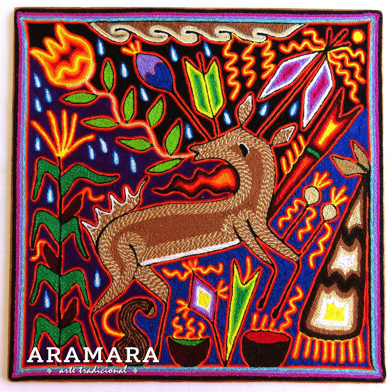 12 Huichol Painting Mexican Art