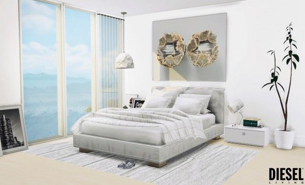MXIMS Diesel Bedroom Sims 4 bedroom, Sims 4 beds