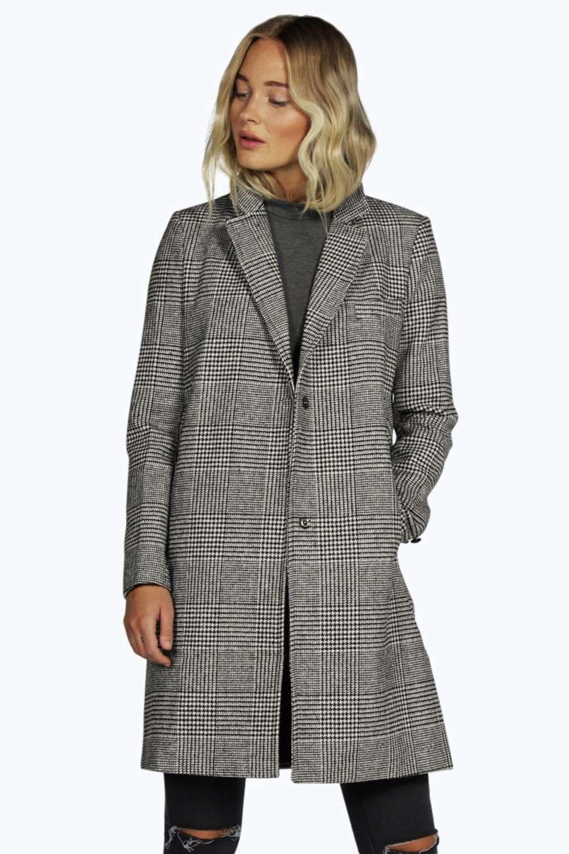 2330ac1032ba Lara Prince Of Wales Check Crombie Coat | Jackets | Coat, Crombie ...